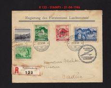 LIECHTENSTEIN 1937-1938 - TRAVELLED LETTER 1946 R 123  RARE !!!!!! - Liechtenstein