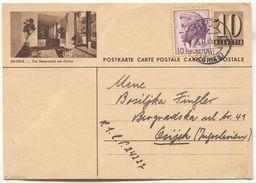 BADEN - SWITZERLAND, Seal RUTI, ILLUSTRATED STATIONERY 1946. USED - Interi Postali