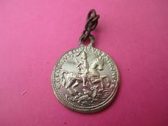 Médaille Religieuse Ancienne/Saint Georges à Cheval/ Bateau Voguant/Début XXéme Siécle    CAN475 - Religion & Esotericism