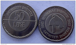 ALBANIA 50 LEKE 2003 ANCIENT IIIYRIAN HELMENT UNC FDC - Albanie