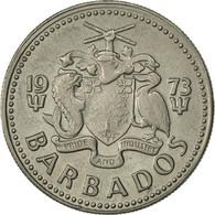 Barbados, 25 Cents, 1973, Franklin Mint, TTB+, Copper-nickel, KM:13 - Barbades