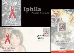 World AIDS Day FDC & Folder Indn Issue 2006       Medical Health Sex Disease Medicine Krankheit  Maladie - Disease