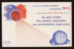 Buvard - Pendules - Reveils - SMI - Blotters