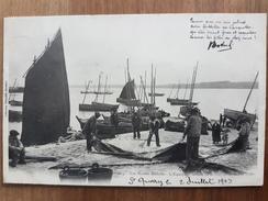 Douarnenez.l'équipage Faisant La Toilette.pêcheurs.édition Villard 1224 - Douarnenez