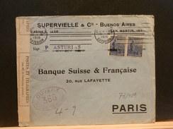 73/189    LETTRE TO PARIS  1915  FR. CENSOR S/S ASTURIAS - Argentina