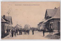 JUSSY (Aisne) - Entrée Du Pays Par Montescourt - Other Municipalities
