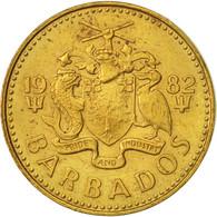 Barbados, 5 Cents, 1982, Franklin Mint, TTB, Laiton, KM:11 - Barbades