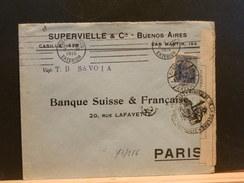 73/186    LETTRE TO PARIS  1915  FR. CENSOR VAP. T.D. SAVOIA - Argentina