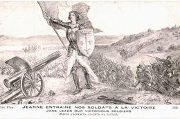 CPA N°8064 - JEANNE ENTRAINE NOS SOLDATS A LA VICTOIRE - PINX FLUX - MILITARIA 14-18 - Oorlog 1914-18