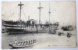 CPA 56 Voilier Le Calédonien En Gros Plan école Des Apprentis Fusiliers Marine De Guerre Port De Lorient 1926 - Krieg