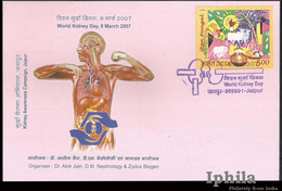 Kidney Day Maximum Card 2007       Max Medical Health Medicine Gesundheit Médicament Médical Chirurgie Surgery Disease - Medicine
