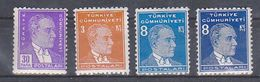 AC - TURKEY STAMP - POSTAGE STAMPS OF THE THIRD ATATURK ISSUE MNH 1936 - 1937 - Ongebruikt