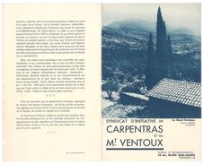 Dépliant 2 Volets Syndicat D'initiative De Carpentras Et Du Mont Ventoux - Dépliants Touristiques