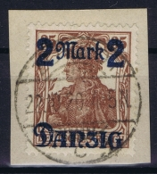 Danzig: Mi Nr 43  III Ohne Netzunterdruck  Obl./Gestempelt/used 1920   Sans Burelage Signed/ Signé/signiert 2x Infla Ber - Danzig