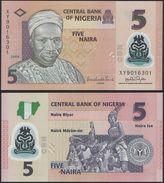 Nigeria DEALER LOT ( 10 Pcs ) - 5 Naira 2009 POLYMER - UNC - Nigeria