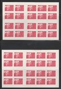 3085 C2a TVP MARIANNE 14 JUILLET Type I - 2 Carnets De 20 Datés 06.09.97 & 16.09.97 - Carnets