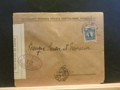 73/156     LETTRE POUR PARIS 1915   CENSURE   FR. - Sweden