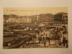 Carte Postale -  MARSEILLE (13) - Le Quai De La Fraternité (1638/1000) - The Canebière, City Centre
