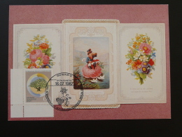 002-10 Carte De Voeux Greeting Card Congres Botanique Postmuseum Karte Carte Maximum Card Berlin 1987 - Cartes-Maximum (CM)