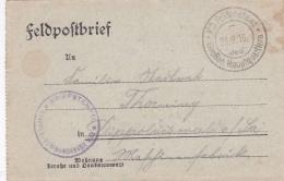Feldpost WW1: Etappen Inspektion III P/m 23.9.1916 By Grossen Hauptquartiers - Letter Inside  (T12-35) - Militaria