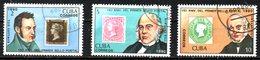 CUBA. 3 Timbres Oblitérés De 1990. Hill/Timbres Sur Timbres. - Stamps On Stamps