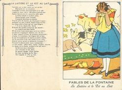 Chromos - Chromo Fables De La Fontaine: La Laitière Et Le Pot Au Lait - Cromo