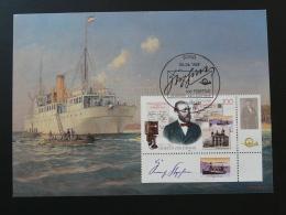 801-10 Bateau Ship Cable Telecommunications Postal History Postmuseum Karte Carte Maximum Card Bonn 1997 - Telekom