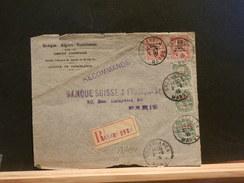 73/134  DEVANT DE  LETTRE RECOMM. POUR PARIS  1915 - Marruecos (1891-1956)