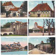 6 CPa Neuf-Brisach : Caserne, Mairie, Rhin, église ... - Neuf Brisach