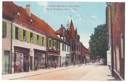 CPa Neuf-Brisach - Rue De Strasbourg Avec La Poste - Neuf Brisach
