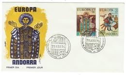 Andorra // FDC // 1975 //  Europa 1975 - Andorre Espagnol