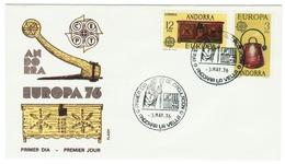 Andorra // FDC // 1976 //  Europa 1976 - Andorre Espagnol