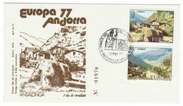 Andorra // FDC // 1977 //  Europa 1977 - Andorre Espagnol