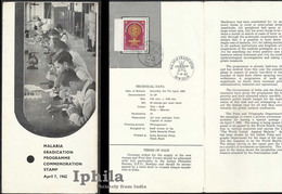 Very Scarce Stamped Folder Malaria 1961 Indn    Medicine Health Medicine Gesundheit Paludisme Médicament Médical Disease - Disease