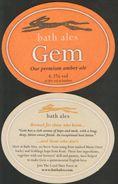 GEM Bath Ales, Our Premium Amber Ale, Produced In English, Beer Mats  RARE - Portavasos
