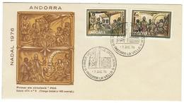 Andorra // FDC // 1976 //  Peinture De L'église De Massana (tirage Limité 1400 Exemplaires) - Lettres & Documents