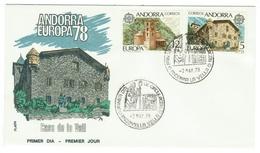 Andorra // FDC // 1978 //  Europa 1978 - Andorre Espagnol