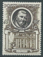 1953 VATICANO SERIE I PAPI 45 LIRE MNH ** - ED6-5 - Vatican