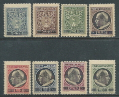 1945-46 VATICANO MEDAGLIONCINI SOPRASTAMPATI 8 VALORI MNH ** - ED6-6 - Vatican