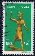 Egypte 2002 Oblitéré Used Figurine En Bois Doré De Toutankhamon - Egypt