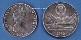 1980  SAINT HELENA  25p.  80TH. ANNIVERSARY QUEEN MOTHER VERY FINE-SUPERB - Saint Helena Island