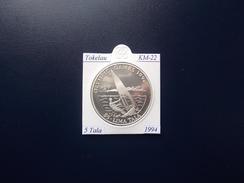 TOKELAU 1994, 5 TALA, KM-22, SILVER, PROOF-SC - Monnaies