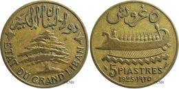 Liban - Protectorat Français - 5 Piastres 1925 KM#5.2 - TB - Mon2037 - Colonias