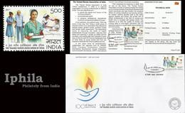 Nurses Association Indn FDC Folder Trained Nurse Doctors Medicine Health Gesundheit Paludisme Médicament Médical Disease - Medicine
