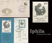 Pediatrics 1977 Indn FDC Folder Children Child Care Mother Doctor Medicine Health Gesundheit Médicament Médical Disease - Medicine