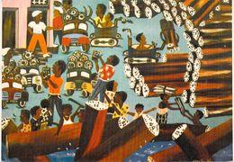 Afrique  Côte D´Ivoire -ABIDJAN Le Port à Bois Illustration Tableau De Nanty-Bi (Barnoin Galerie D'art Mitkal)*PRIX FIXE - Côte-d'Ivoire