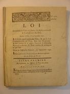 LOI N°1310 Du 29 SEPTEMBRE 1791 - POLICE DE SURETE - JUSTICE CRIMINELLE - JURES - CLERMONT FERRAND IMPRIMERIE DELCROS - Gesetze & Erlasse