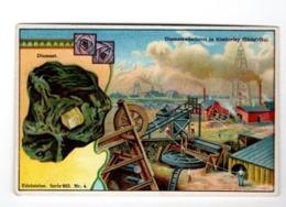 1 Cards Litho Chromo  C1900 PUB Crême LIEBIG CREME - German Text  - Mineralen Minerals Diamant Kimberley Edelsteine - Liebig