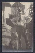 SAN SALVADOR  EL SALVADOR HUNTING GUN CHASSE JAGT GEWEHR WAFFE DOG HUND CHIEN  FOTO POST CARD BLACK AND WHITE - Salvador