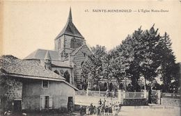 CPA 51 SAINTE MENEHOULD L EGLISE NOTRE DAME 1915 Animèe - Sainte-Menehould
